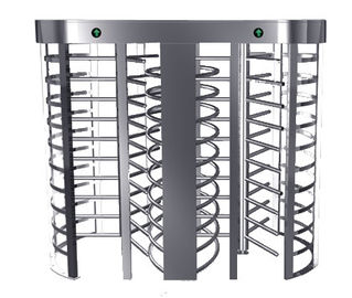 চীন Automatic Electric Full Height Turnstile Entrance Gate With Stainless Steel Tube কারখানা