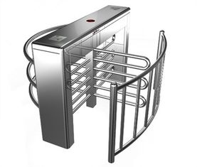 চীন Stainless Steel Biometric Full Height Turnstile With LED Display For Apartment কারখানা
