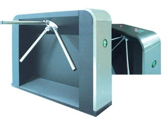RS485 Magnetic Traffic Prompt One Way Tripod Turnstile Gate, Drop Arm Barrier