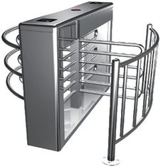 চীন Two-way Direction Automatic Rotation Full Height Turnstile with LED Display for Apartment কারখানা