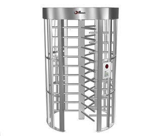 চীন 0.2S Electric Security Stainless Steel Full Height Turnstile with Light Alarm RS485 কারখানা