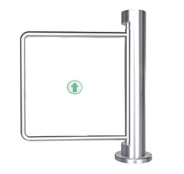 Indoor 90 Angle Single Directional Stainless Manual Swing Gate Barrier for Exhibition সরবরাহকারী