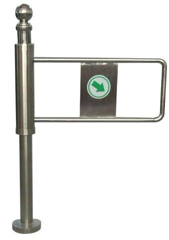 Indoor 90 Angle One-way Direction Auto Reset Economic Manual Swing Gate for Subway সরবরাহকারী