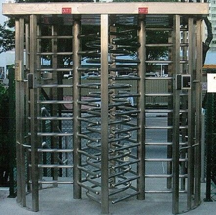 30 Persons / Min Stainless Full Height Turnstile with Sound and Light Alarm for Museum সরবরাহকারী